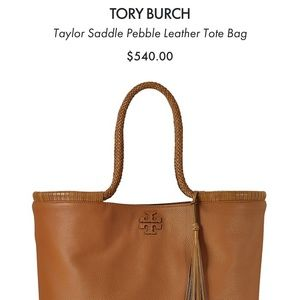 Authentic Tory Burch Taylor Leather Tote Bag